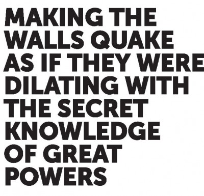 Grafika produktu: Making the walls quake as if they were dilating with the secret knowlage of great powers