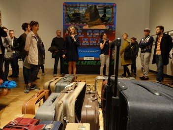 "Grafika wydarzenia: Curatorial walk-through accompanying the exhibition ""The Travellers"""