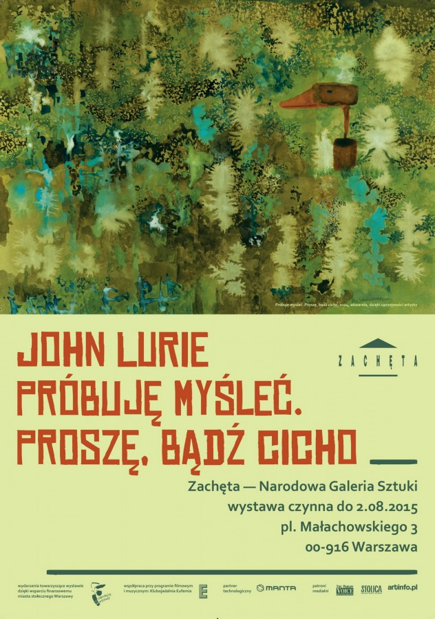 Grafika obiektu: John Lurie I am trying to think. Please be quiet
