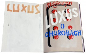 Zdjęcie pracy Luxus, LUXUS Magazine. On diseases, 2013, hand-made magazine, 23 pages + cover, 32 × 40 cm, ed. 20/30 + 1