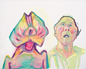 Zdjęcie pracy Maria Lassnig, Zwei Arten zu sein (Doppelselbstporträt) [Two Ways of Being (Double Self-portrait)], 2000 © Maria Lassnig Foundation